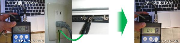 ノートパソコンのアースの接続方法